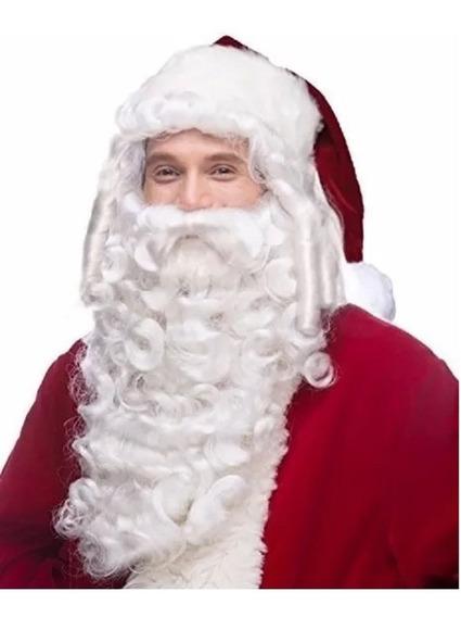 GUIRMA Peluca y Blanca Barba de Santa Claus Santa Claus