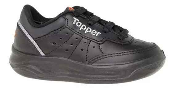 Zapatilla Cuero Colegial Negro Topper Xforcer Kids