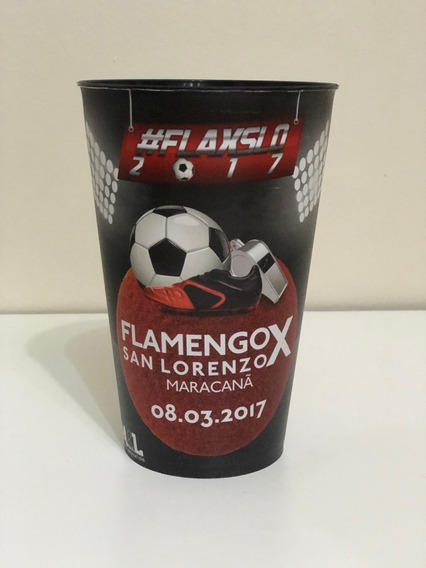 Kit Copos Flamengo Libertadores 2017 Raro
