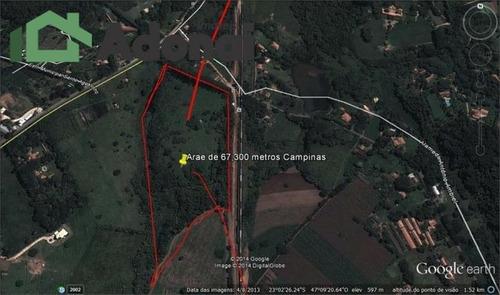 Área Rural Com 72.000 M² , Empreendimento Ruralvenda = R$ 3.000. - Ar0014