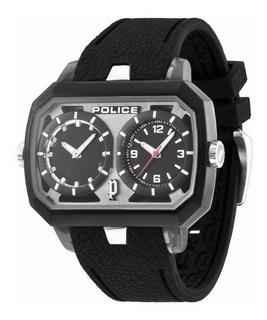 Reloj Police Pl 13076jpb/02 Hombre Cuero Negro Hora Dual+env