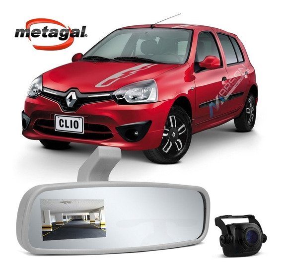 Retrovisor Interno Cinza C/ Camera Ré Clio Hatch 2003 A 2016