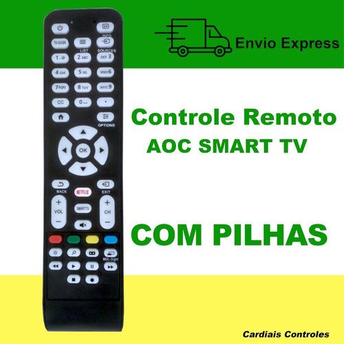 Imagem 1 de 5 de Controle Remoto Para Tv Aoc Com Botão Netflix Led Smart