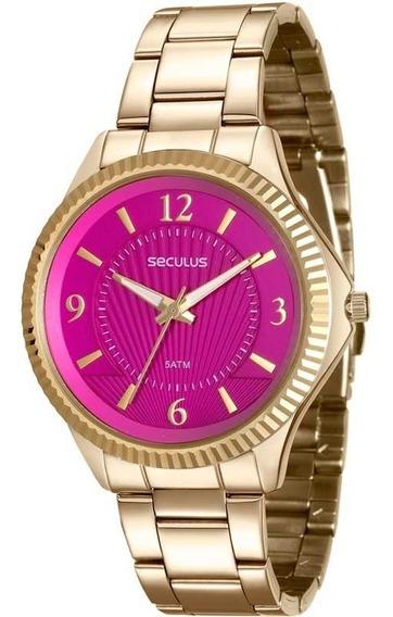 Relógio Seculus Feminino Glamour 20545lpsvds2