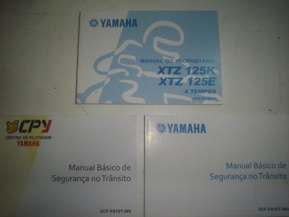 Novo Manual Moto Yamaha Xtz 125 K E 2007 2008 2009 Original