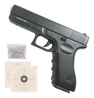Pistola Airsoft Full Metal V20 Vigor Gk-v20 Atira Bbs 6mm Spring Mola Com Trava De Segurança