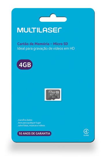 Cartão De Memória Micro Sd 4gb Classe 4 Mc144