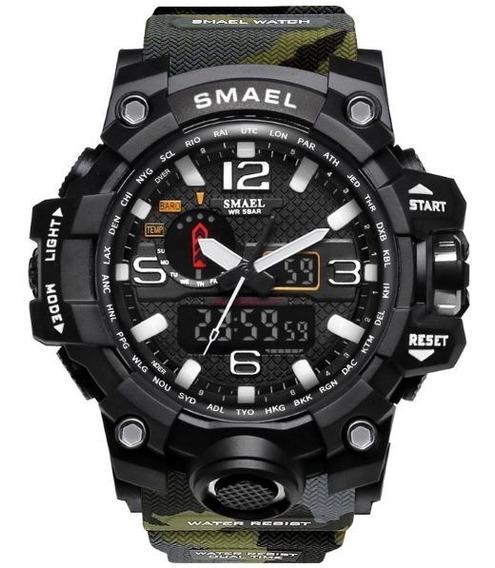 Relógio Militar Smael Analógico Digital Camuflado Barato