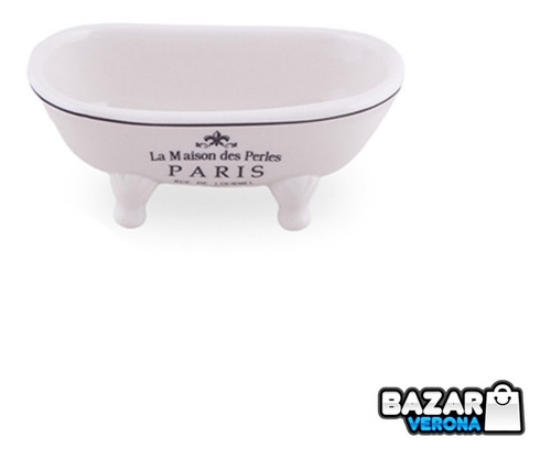 Jabonera Bañera Antigua Linea Paris Porcelana Accesorio Baño