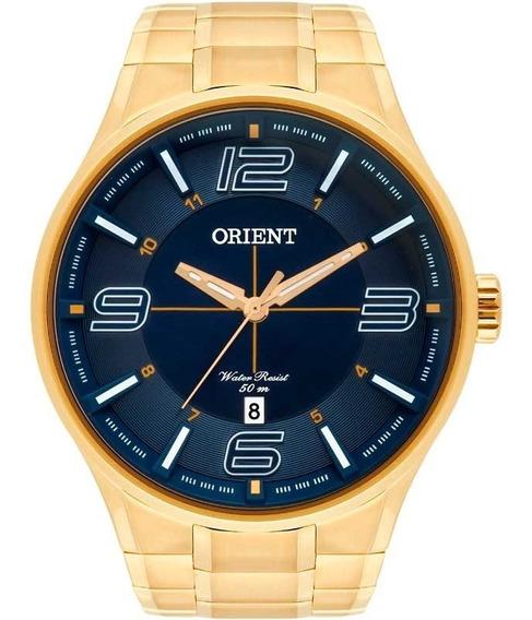 Relógio Orient Masculino Dourado Mgss1136 D2kx