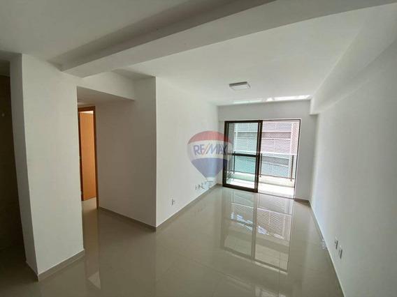 Apartamento Com 2 Dormitórios Para Alugar, 54 M² Por R$ 2.200,00/mês - Graças - Recife/pe - Ap0106