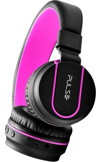 Headphone Pulse Bluetooth Ph216 Preto/rosa C/nfe E Garantia