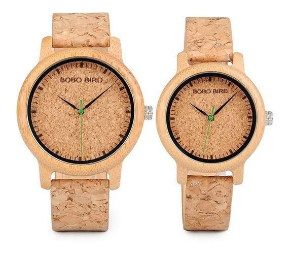 Relógio De Pulso Unissex Bobo Bird - Promoção + Brinde