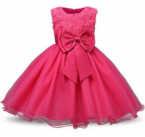 Lindo Vestido Pink - Bebê - Batizado - Casamento - Festas