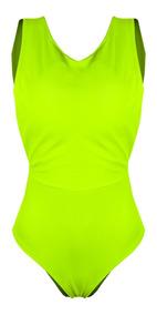 Body Feminino Alça Grossa Neon Color Verão Decote Costas