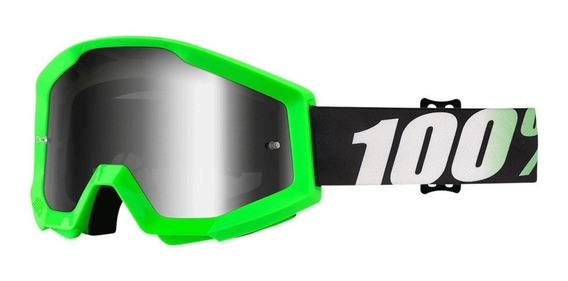 Óculos Motocross Trilha 100% Strata Goggle Arkon Verde