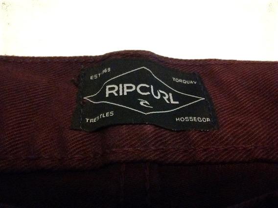 Pantalón Rip Curl 32 Slim Fit Chupín Bordó Medidas Impecable