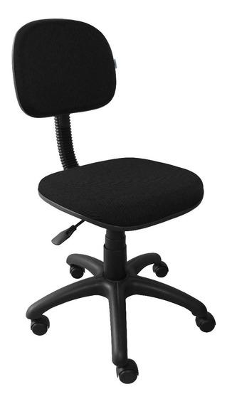 Cadeira Secretária Giratória Tecido Preto Anatômica