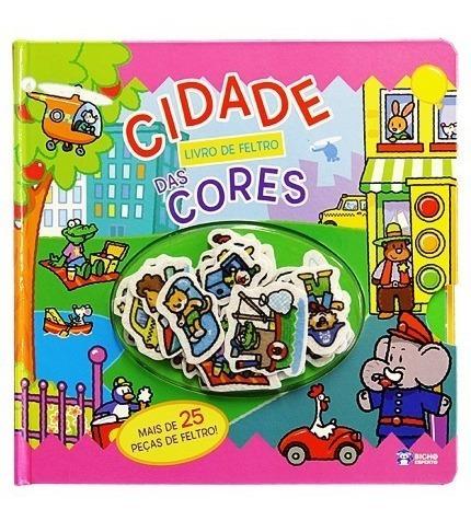 Livro De Feltro Cidade Das Cores Educativo Pedagógico