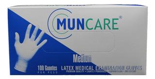 Guante Latex Muncare Talla M Caja X 100 Unidades.