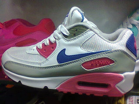 sports shoes 4e4c2 ba73a Tenis Nike Air Max 90 Branco azul E Rosa Nº34 Ao 39 Original