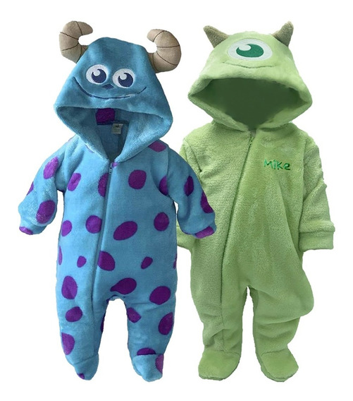 Kit 2 Mamelucos Disney Sulley Y Mike