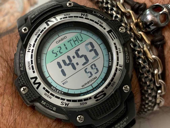 Casio Sgw-100 World Time 5 Alarms Wr200m