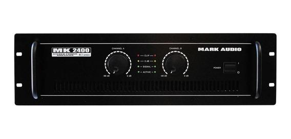 Amplificador Potência Mark Audio Mk2400 400w Mk 2400