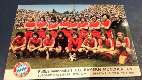 Postal Fútbol Bayern Munchen Bayern Múnich 1974 Campeon