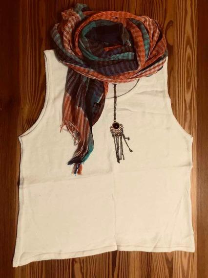 Musculosas Escote Redondo De Hilo, Diseño Propio