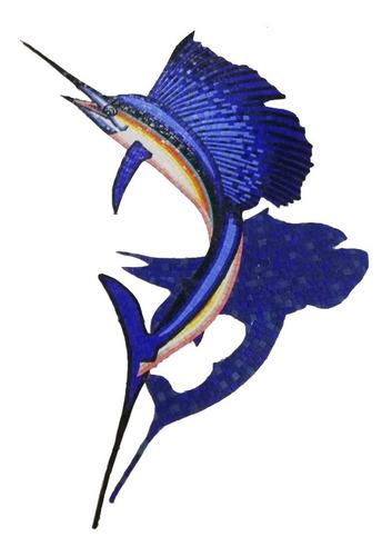 Imagen 1 de 6 de Mosaico Figura Pez Vela N.m. De 1.80 Con Sombra Para Alberca