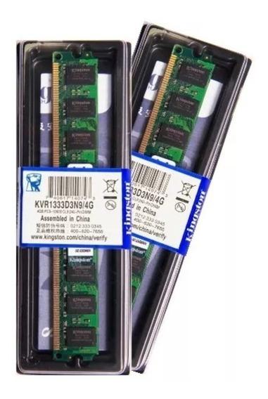 Memória Kingston Ddr3 4gb 1333 Mhz Desktop 16 Chips 1.5v