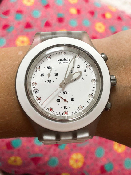 Relógio Swatch Full Blooded Branco Original