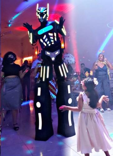 Imagem 1 de 6 de Robô De Led Gigante Locação Para Animar Promoção