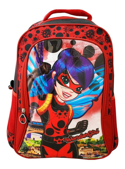 Mochila Escolar Infantil Feminina Da Ladybug Vozz