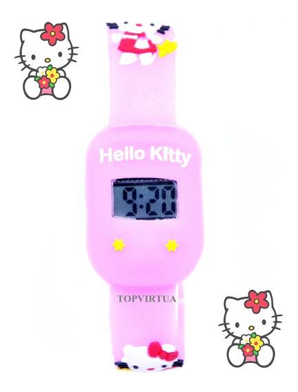 Relógio Hello Kitty 3d Quadrado Digital Infantil P. D