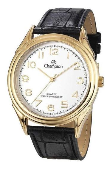 Relógio Champion Masculino Ref: Ch22804b Social Dourado