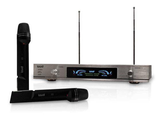 Microfone S/fio Vhf Ld-6630 Mao Duplo Loud