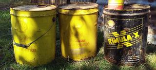 Antiguas Latas De Shell Aceite Y Rimulax De 20 Litros Vacias