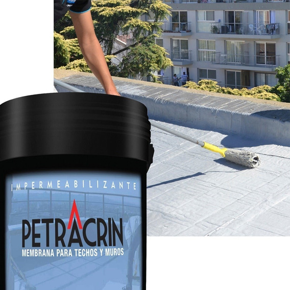 Pintura Membrana Liquida Petracrin Eco Gris 20 Kg Techo