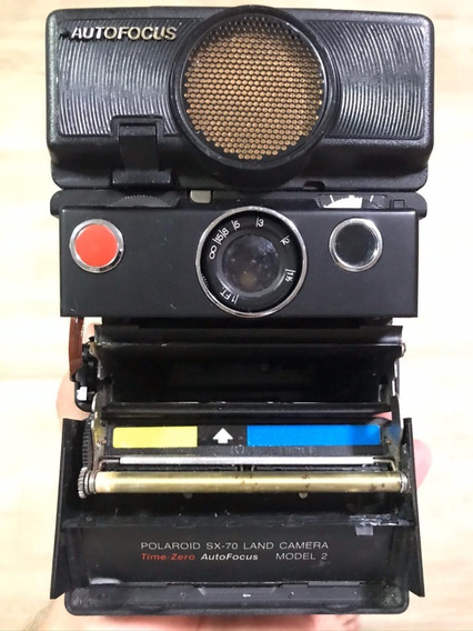 Icone ... Polaroid Sx70 Time Zero, Com Sonar Para Auto Foco.