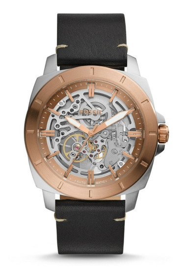 Reloj Fossil Original Automatico Correa Cuero Hombre Bq2428