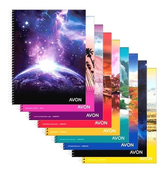 Cuaderno Universitario Avon Rayado A4 C/ Espiral 84hs X10u