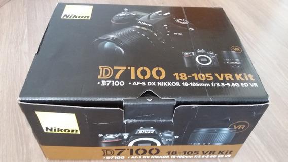 Camera Nikon Somente A Caixa Vazia Da D7100 Lente 18-105