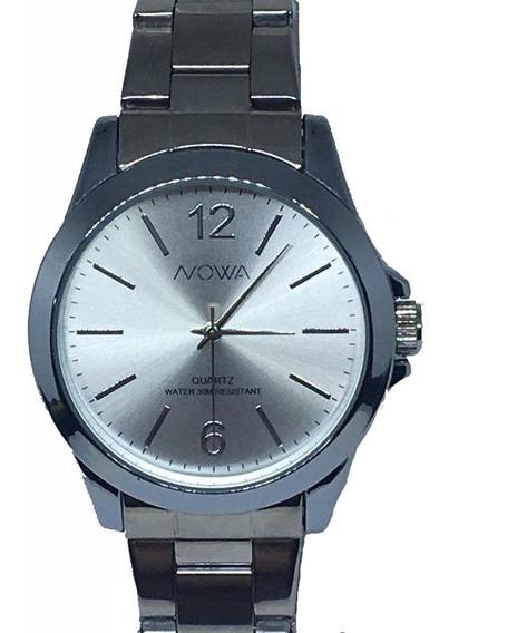 Relógio Nowa Feminino Prata Nw2018k Original+kit Perfume