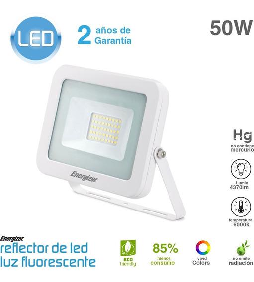 Reflector Led 50w 220v Blanco Frio Exterior Sin Interes