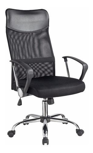 Silla de escritorio Royal Design Mesh  negra con tapizado de mesh