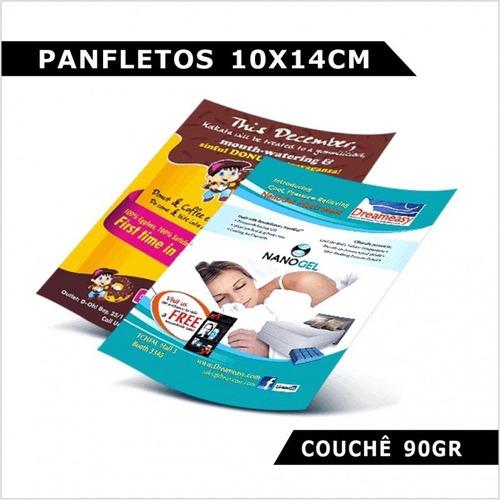 5000 Panfletos 90g Folder Flyers  10x14 Cm 4x0 Arte Grátis