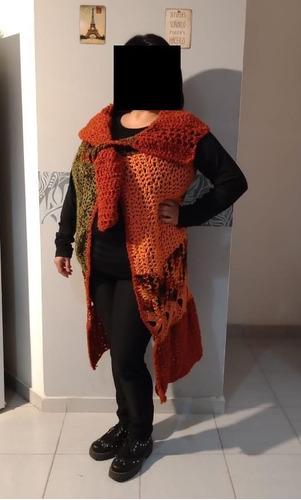 Saco  Tejido Crochet Artesanal  Sin Mangas