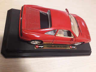Carro De Coleccion Burago Ferrari 348 Tb 1989 Escala 1/24